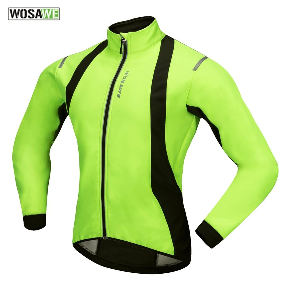 Men Bike Jackets Fleece Cycling Jersey MTB Road Cycle Clothing Windproof Coat