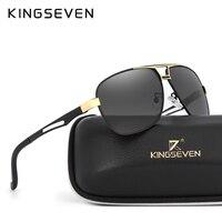 KINGSEVEN 2017Polarized Sunglasses Brand Sun Glasses For Mens Driving Sunglasses Metal Frame Polaroid Lens Brand Designer
