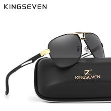 6de187c604e76c KINGSEVEN 2017 lunettes de Soleil Hommes Polarisé Carrés Lentille Marque  Designer Conduite lunettes de Soleil En Aluminium Class.