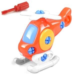 Image 4 - DIY פירוק עם מברג התאסף צעצועי ילדי רכבת מכונית צעצוע מטוס רכב אבני בניין דגם כלי חינוכי צעצוע