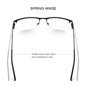 Image 3 - Merrys Ontwerp Mannen Titanium Legering Glazen Frame Mannelijke Vierkante Eye Bijziendheid Recept Brillen Mannelijke Helft Optische S2064