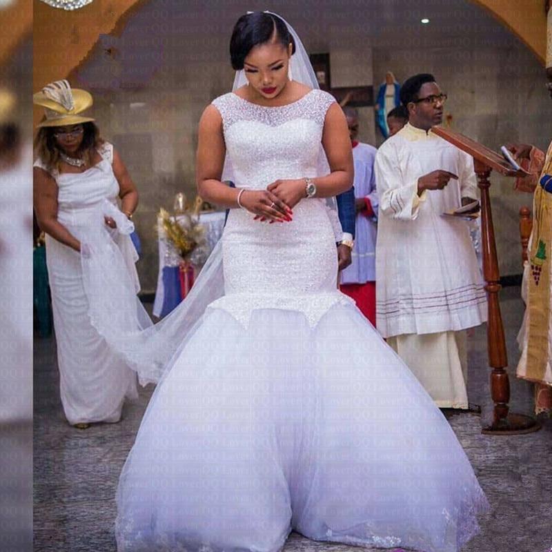 2019 New African Full Beading Mermaid Wedding Dress Stunning Hips Wedding Gowns