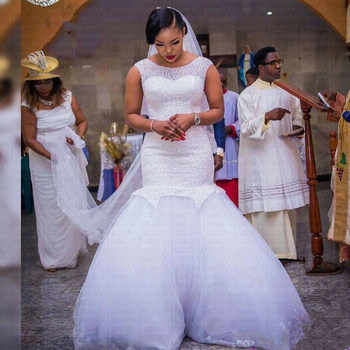 2019 New African Full Beading Mermaid Wedding Dress Stunning Hips Wedding Gowns - DISCOUNT ITEM  41% OFF All Category