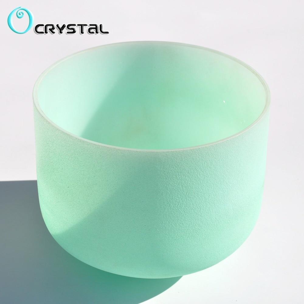 New 10 Inch Mint Green Color C D E F G A B Meditation Frosted Quartz