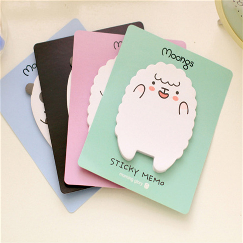 New Cute Lamb Bear Memo Pads Bookmark DIY Diary Sticker Marker Tab Flags Point Sticky Notes Pad School Supplies Stationery Gifts
