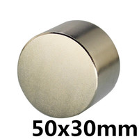 1pcs N35 Dia 50x30 mm hot round magnet Strong Rare Earth Neodymium Magnetic wholesale 50mm x 30 mm
