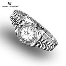 Reloj de lujo para mujer, diseño PAGANI, esfera blanca, de cuarzo, de vestir, de acero impermeable, femenino, 2019