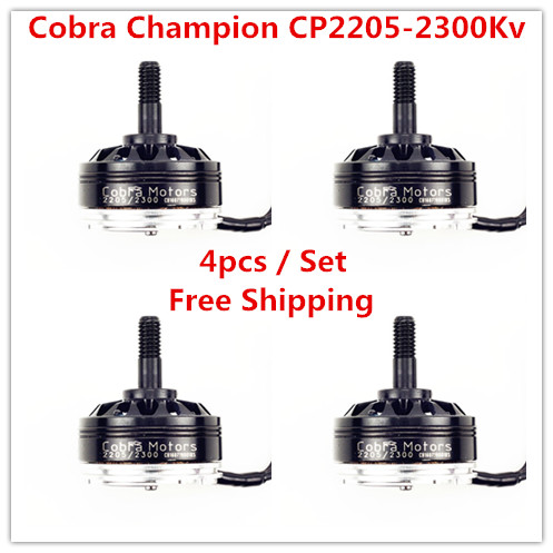 Cobra Motor CP2205-2300, 2300Kv,Free Shipping 4pcs/lot  Brushless Motor for Mini Drone Racing, FPV racing, Mini quad racing
