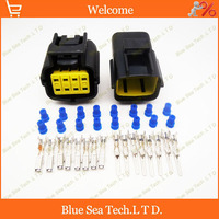 Sample 2 Sets 8 Pin Engine Oxygen Sensor Wiring Harness Plug Car Waterproof Electrical Connector For