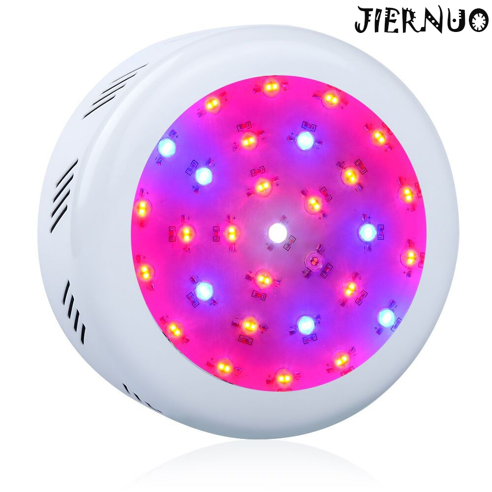 ФОТО Double Chips UFO 300W LED Grow Light Full Spectrum 410-730nm Medical LED Grow Light for indoor  Plants Flowering and Growing