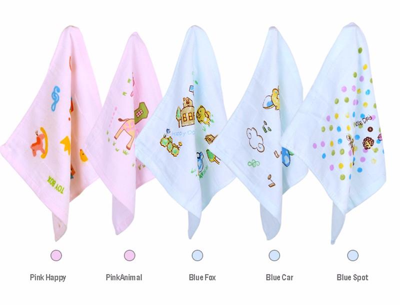 Square Cotton Cartoon Baby Bath Towel (11)