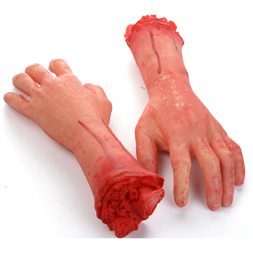 Bloody Horror Scary Halloween Prop Fake Severed Lifesize Arm Hand ...