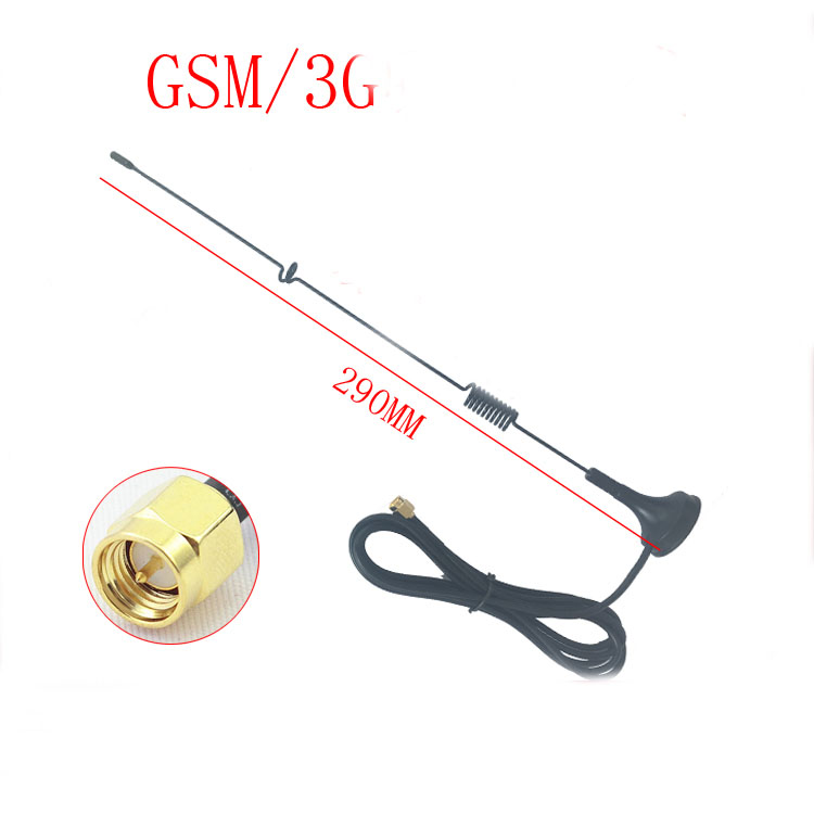 SMA High Head High Gain 3G Sucker Strong Magnetic Antenna 890-2100M Super Receiving Omnidirectional Antenna 7DBI