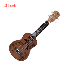 21 inch  Soprano Ukulele Nylon 4 Strings Sapele Rosewood Guitar Dolphin Pattern Universal Acoustic Guitar Musical Instrument 21 soprano ukulele basswood acoustic nylon 4 strings ukulele bass guitar musical instrument for beginners or basic players