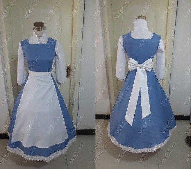 Nouveauté Costume Cosplay de femme de chambre longue Lolita maison serviteur cloche robe Costumes d'halloween