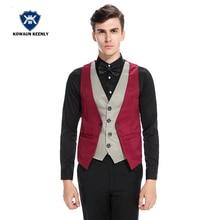 Vintage Slim Fit Formal Casual Gilet Costume Business Dress for Men