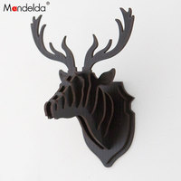 Mandelda DIY Home Decoration MDF Mini Reindeer Artware Pendant Accessories Little Fawn on Wall Gifts Black Friday Promotion