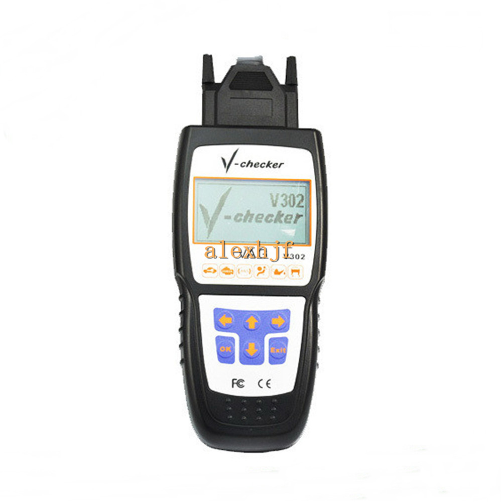 VAG Scanner with LCD Screen Code Reader, V302, Retrieves ECU Information, ReadsDTCS, Clears DTCs, Reset Oil Lamp, IN1 and IN2.