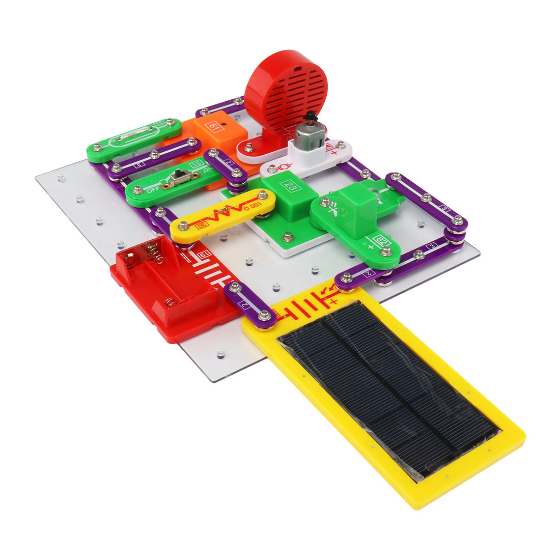 Upgraded Electronic Building Blocks Assembled Bricks Toy Circuits Educational Science DIY Toy goodman troubleshooting &amp repairing electronic circuits 2ed pr only