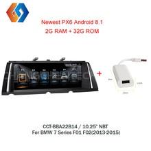Android 8,1 gps радио для BMW 7 серии F01 F02 (2013-2015) Автомобильная Мультимедийная Сенсорный экран стерео НБТ система EVO UI WiFi BT DVR ТВ 14