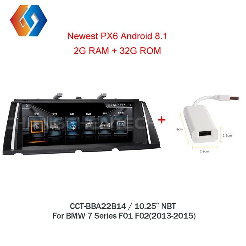 Android 8.1 GPS de Rádio Para BMW Série 7 F01 F02 (2013-2015) tela de Toque Multimídia carro Estéreo sistema de NBT EVO UI WiFi BT DVR TV 14