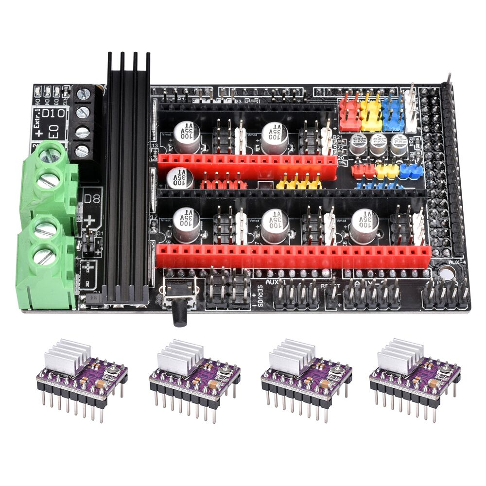 Ramps 1.6 Plus Upgrade Base Ramps 1.6 1.5 1.4 Motherboard Control Board To A4988/DRV8825/TMC2208/TMC2130 Driver 3D Printer Parts
