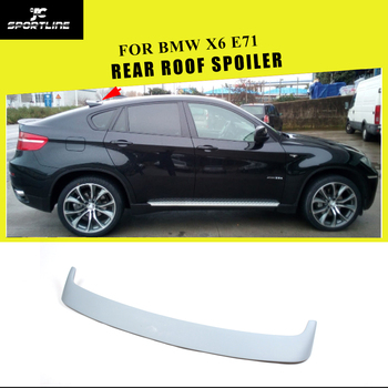 Car-Styling Auto PU Rear Roof Spoiler Window Wing Lip for BMW X6 E71 2008 - 2014 image