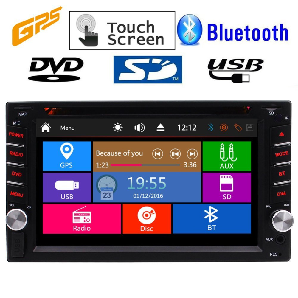 EinCar GPS Car Stereo Electronic Multimedia In Dash Video CD Car PC Head Unit Auto DVD Player Autoradio MP3 MP4 Double Din Radio