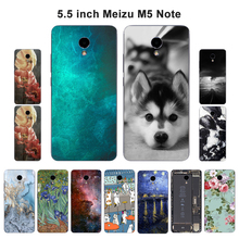 For Meizu M5 Note Case Soft TPU Silicone Fundas Coque Scenery Painted Shell For Meizu Blue Note 5 Note5 5Note Phone Cases