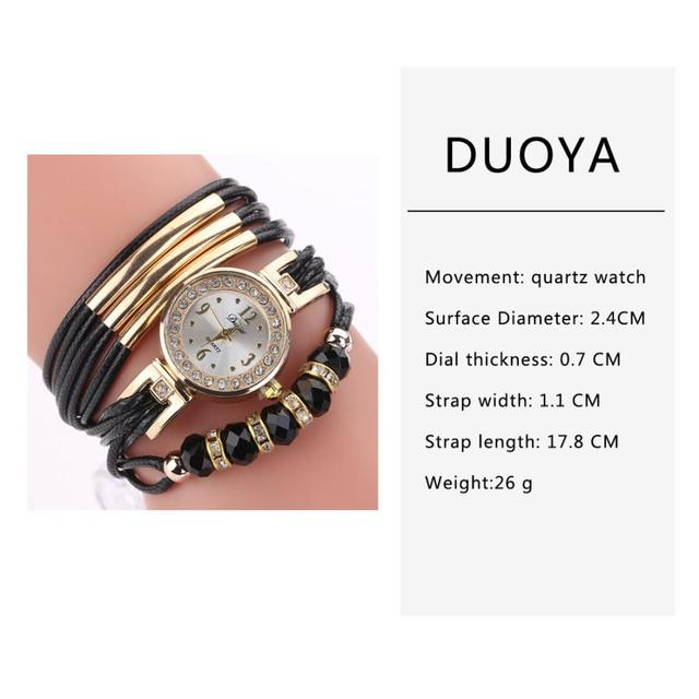 Quartz Wristwatches Reloj Mujer  Fashion Casual  Gold dial  Women Watch Luxury 2018 Leather  Bracelet  Watches  18JUA2