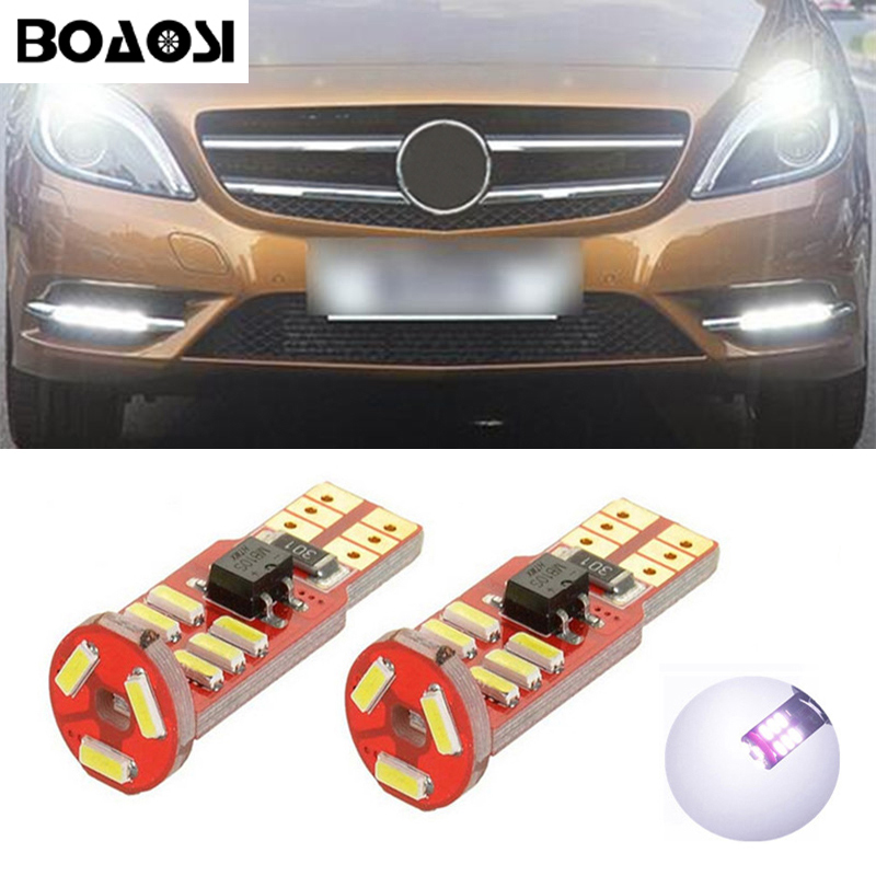 BOAOSI 2x Car T10 w5w LED Clearance light for Mercedes Benz CLS GLK E200 E260 E300 W219 W220 w202 w220 w204 w203 A/C/E/S/R
