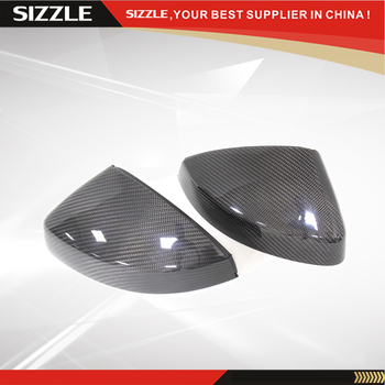 Add On Style Carbon Fiber Rear View Mirror Cover For Audi A3 S3 2014+ Without Lane Assit