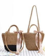 Handbag Shoulder Straw Weave Shopping Tote Satchel Eco-Messenger Bag Square Bags Messenger Bags Leather Handbag Bag For Women цена в Москве и Питере
