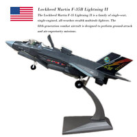 WLTK 1/72 Scale Military Model Toys F 35B Lightning II Joint Strike Fighter BF 01 STOVL Diecast Metal Plane Model Toy For Gift