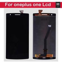 100% nueva oneplus one lcd pantalla y pantalla táctil digitalizador asamblea de pantalla 1 + uno más de una pantalla lcd de color negro