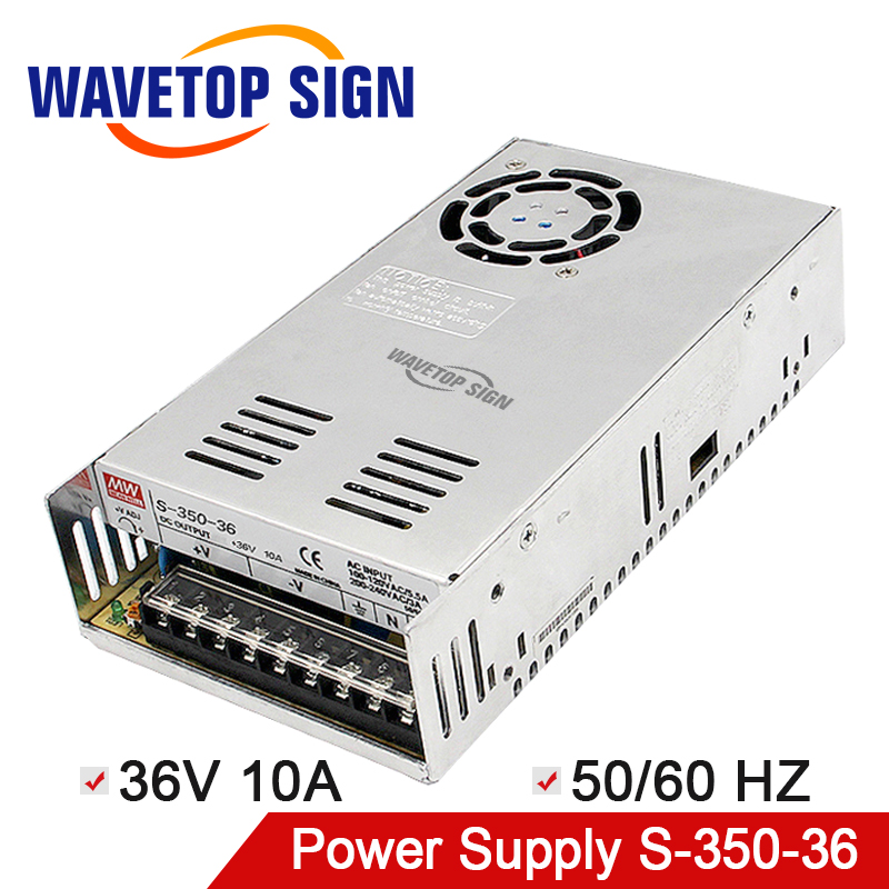 switching power supply 36V10A S-350-36 50/60HZ Power Supply use for laser engraving and cutting machine Controller laser cutting marking engraving machine diy parts meanwell mw nes 350 24 350w 24v power supply switching switch power supply
