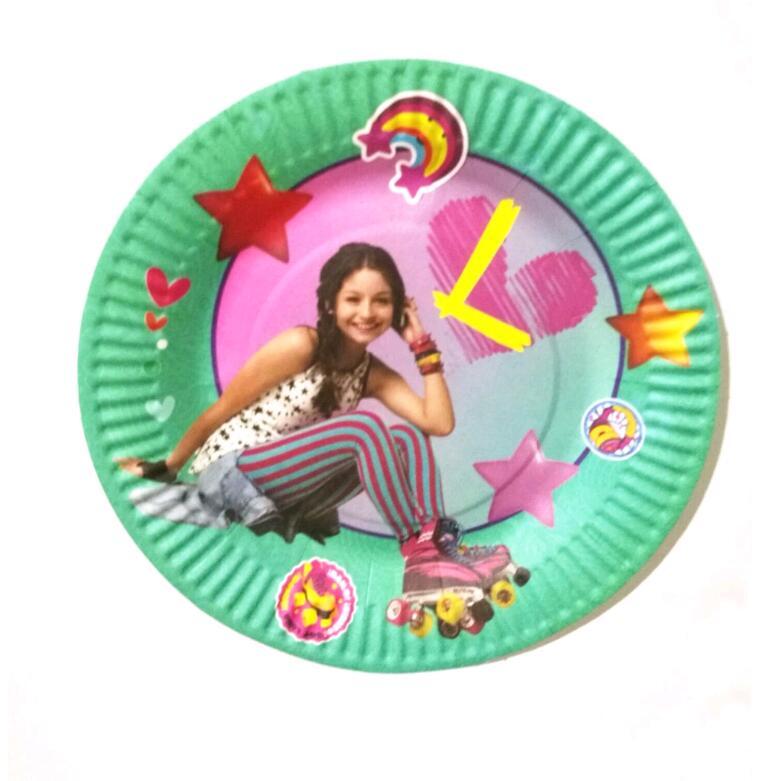 10 шт. соевый Luna на день рождения украшения 7 дюймов Одноразовые вечерние бумажные тарелки/блюдца день рождения посуда торт блюд