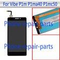 Preto 5.0 polegada Display LCD Completa + Digitador Da Tela de Toque assembléia de vidro para lenovo vibe p1m p1ma40 p1mc50 td-lte livre grátis