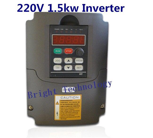 1.5KW Inverter 1.5kw HY VFD Spindle inverter 220V 1.5kw Frequency Drive Inverter Machine Inverter for 1.5kw spindle vfd110cp43b 21 delta vfd cp2000 vfd inverter frequency converter 11kw 15hp 3ph ac380 480v 600hz fan and water pump