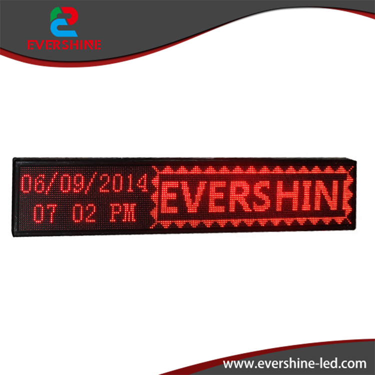 High Defination Low Price Waterproof  P10 Red Color  LED window message sign high qulity low price wine red color