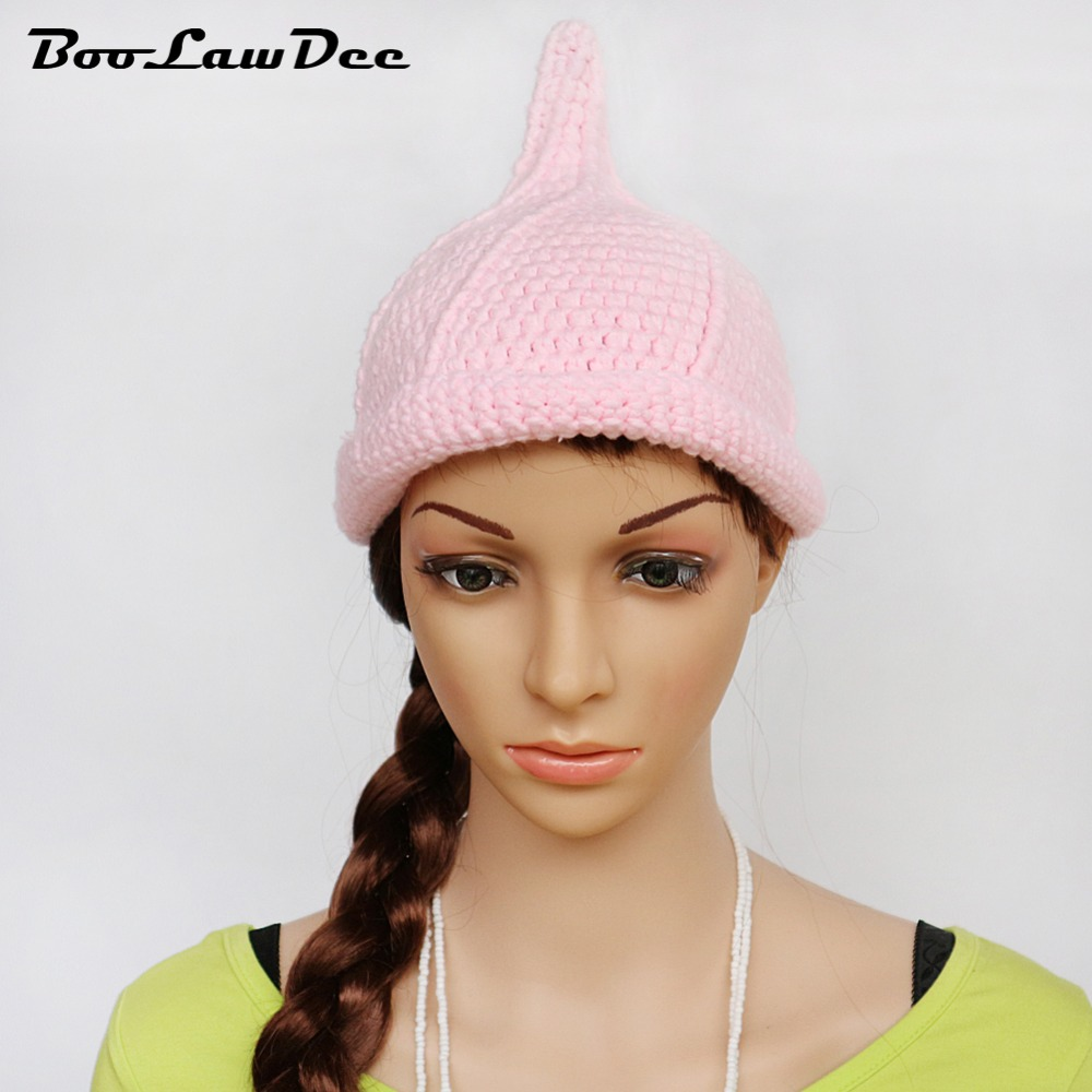 258dfb50f52 BooLawDee handwork crochet girl nipple shaped beanie elastic winter warm  free size pink black white orange green yellow M002-in Hats   Caps from  Mother ...