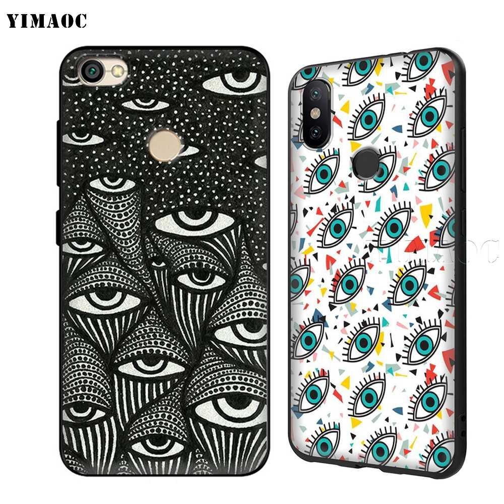 Yimaoc Pyra mi d Всевидящее с клипсами Дурной глаз чехол из термопластичного полиуретана для Xiaomi Redmi mi Note MAX 3 6 6A 7 mi 6 mi 8 9 se a1 a2 Pro Lite go pocophone f1
