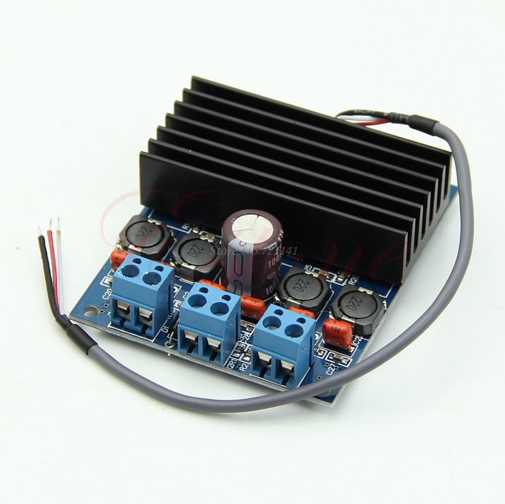 DC 10-26V Amplifier Board TDA7492 D Class High-Power Digital 2x50W AMP Board with Radiator