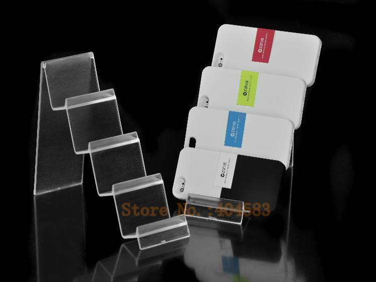 6 Pcs/lot 4-layer Plastic Wallet Display Stand Mobile Display Stand