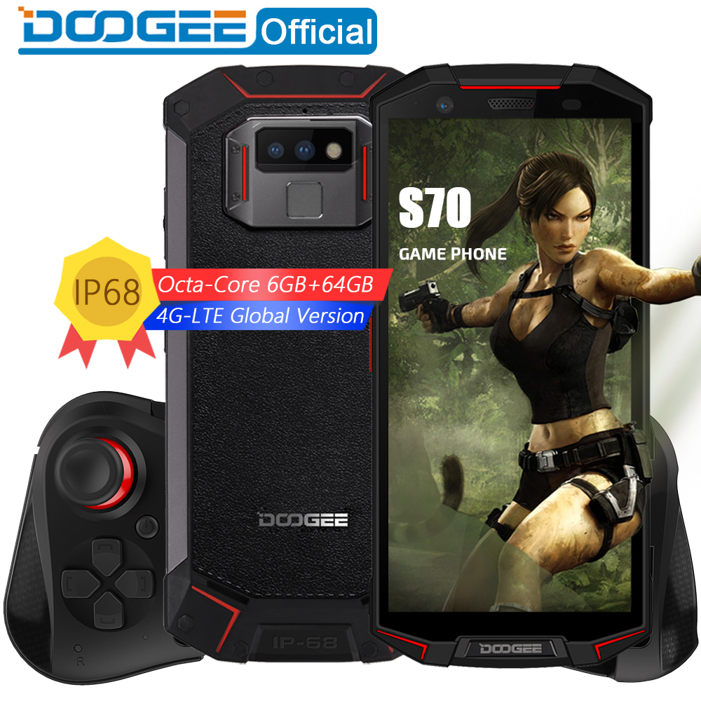 Jogo Do Telefone DOOGEE S70 IP68/IP69K Carga Sem Fio À Prova D' Água NFC 5500 mAh 12V2A Quick Charge 5.99 FHD Helio P23 octa Núcleo 6 GB 64 GB