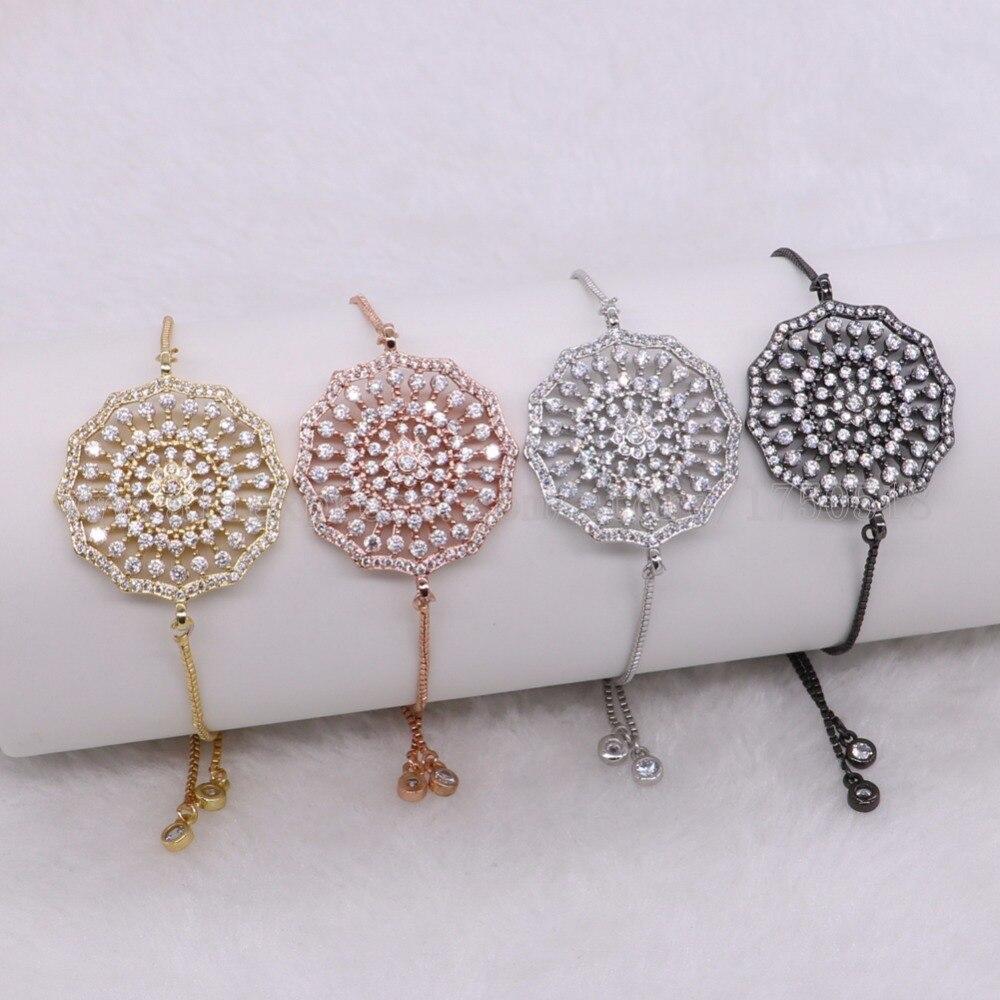 Runde blume barock perlen armbänder für frauen runde perlen verstellbaren kette Makramee schmuck für frauen 2040-in Kette & Link Armbänder aus Schmuck und Accessoires bei  Gruppe 1