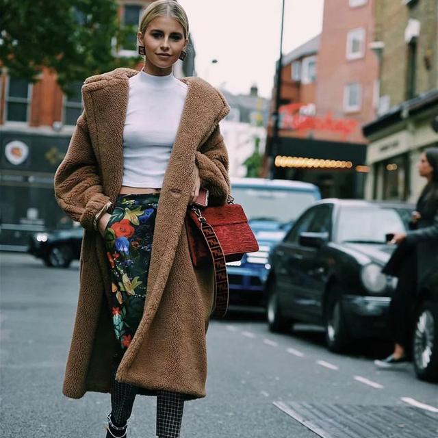 Winter Faux Fur Coat Women 2019 Casual Oversize Long Sleeve Faux Fox Fur Jacket Female Coat Thick Warm Outwear casaco feminino