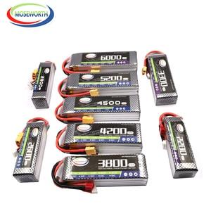 Image 4 - 4S 14.8V RC Auto Batteria LiPo 1300 1800 2200 2600 3300 4500 6000mAh 30C 40C60C Per RC aereo Drone Elicottero Batterie LiPo 4S