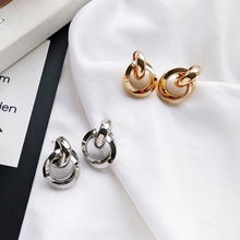 Free Shipping Circular Curve Alloy Punk Styles Earring