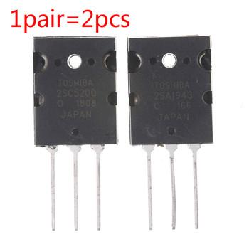 1 para 2SA1943 2SC5200 TO-3PL krzemu NPN + PNP wzmacniacz Audio tranzystor tanie i dobre opinie JETTING